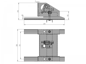 10102 – Wheel carrier for 10 stud wheel. Steel.