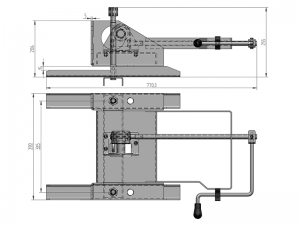 10106 – Wheel carrier for 10 stud wheel. Steel.