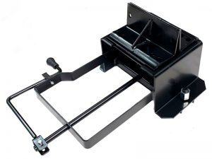 11604 – Wheel carrier for 10 stud wheel, model under crossbar with crank. Steel.