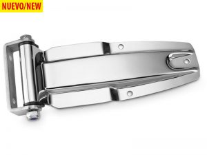 21902 I – Rear Door Hinges with bracket to bolt-on 219 series. Length of 275 mm. Stainless steel.
