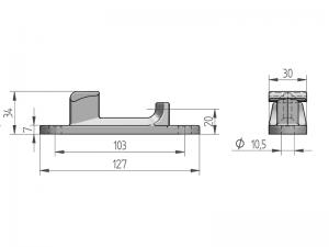 300221 I – Cremona modelo 310. Acero inoxidable (microfusión).