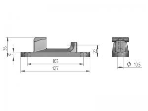 300223 I – Cremona modelo 340. Acero inox (microfusión).
