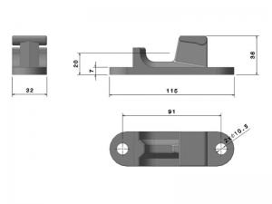300235 Z – Cremona. Acero cincado (microfusión).