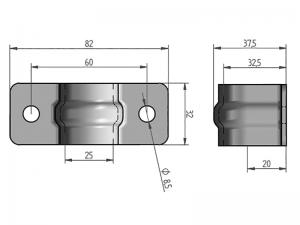 300301 Z – Abrazadera sencilla para tubo de Ø20 mm. Acero.