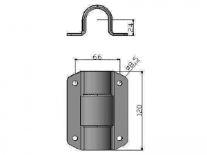 300311 I – Double tube clamp suitable for use with Ø33 mm tube. Stainless steel.