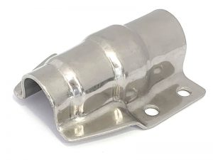 300320 I – Abrazadera salto de goma corta para tubo de Ø21,3-25 mm. Acero inoxidable.