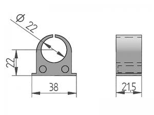 300441 – Casquillo interior PAL para cubrefallebas tubo de Ø22 mm. Nylon.