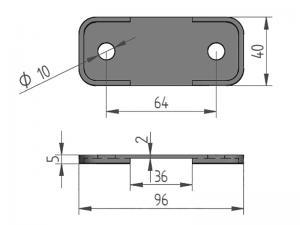 300452 – Suplemento para abrazadera sencilla modelo 340 para tubo Ø21.3-22 mm. Nylon.