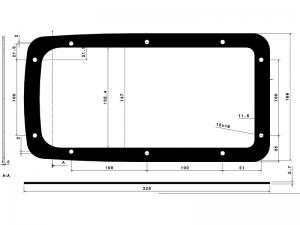 300496 – Junta plástico Cierre Empotrado. Junta plástico para cierre empotrado modelo 337 y 338.