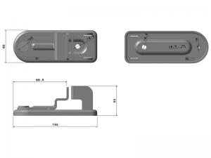 "300502 I – Traba tubo Ø22/25/27/33 mm modelo Container «Tipo ASA"". Acero inoxidable."