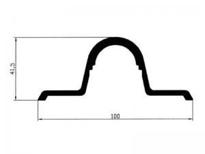 300806 – Cubrefallebas de aluminio para tubo de Ø27 mm