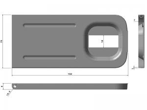 302201 I –  Tapa Maneta. Tapeta Modelo 306/308/310. Acero inoxidable.