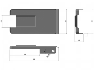302202 I – Tapa Maneta. Tapeta modelo 318-319-320. Acero inoxidable.