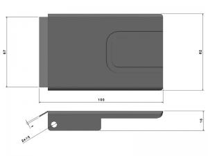 302203 I – Tapa Maneta. Tapeta modelo 321. Acero inoxidable.