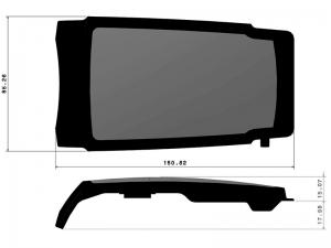 302210 I – Tapa Maneta. Tapa inoxidable + Fibra de Vidrio modelo 337/338/339/340.