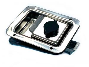 3152201 I – Recessed paddle handle. Stainless steel.