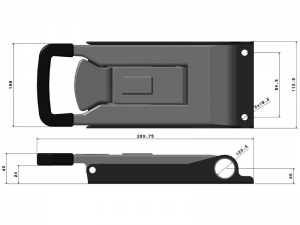 "32025 I – External ""Push"" Door Locking handle 320 series, suitable for use with Ø25 mm tube. Stainless steel."