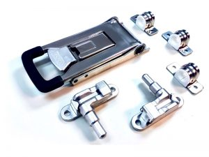 "3202501 I – External Door Locks 320 Series. Full external ""push"" door lock 320 series, suitable for use with Ø25 mm tube. Stainless steel."