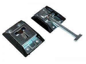40201 Z – Door holdback (hook & catch plate) with plastic enclosures. Steel.
