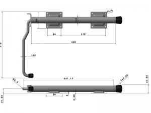 40301 Z – Door retainer standard series. Steel.