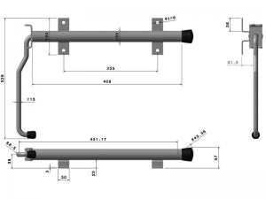 40320 Z – Door retainer standard series. Steel.