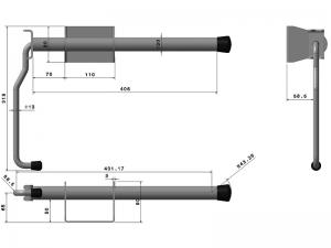40401 Z –  Inmovilizador de brazo modelo semiremolque. Acero.