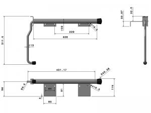 40404 Z –  Inmovilizador de brazo modelo semiremolque. Acero.