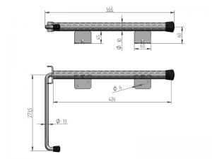 40407 I –  Inmovilizador de brazo modelo semiremolque. Acero inoxidable