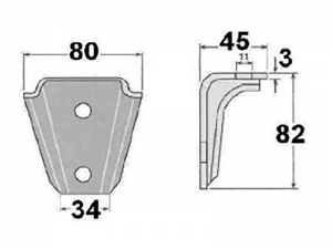 62301 – Small body mounting chassis bracket. Steel.