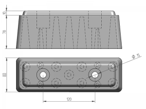 64002 – Trailer Rubber buffer of 245 mm.