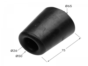 64005 – Conical Rubber buffer of Ø65 mm.
