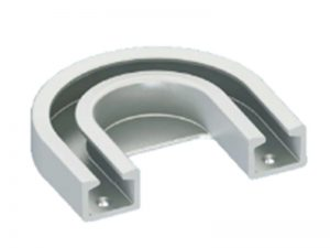 GCA/52 – Accessories for Refrigerator Lorry. Curve profile for rail of 52 mm. Aluminium anodized.